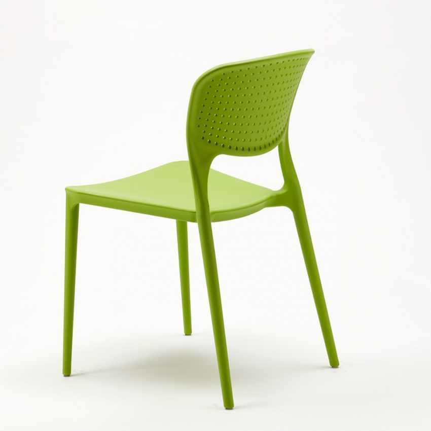 Stock 20 sedie polipropilene colorate impilabile GARDEN GIULIETTA bar ristorante gelateria - discount