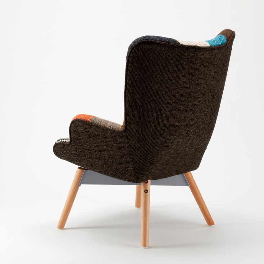 Sofa Chair Patchwork Scandinavian Padded Living Offices PATCHY - details