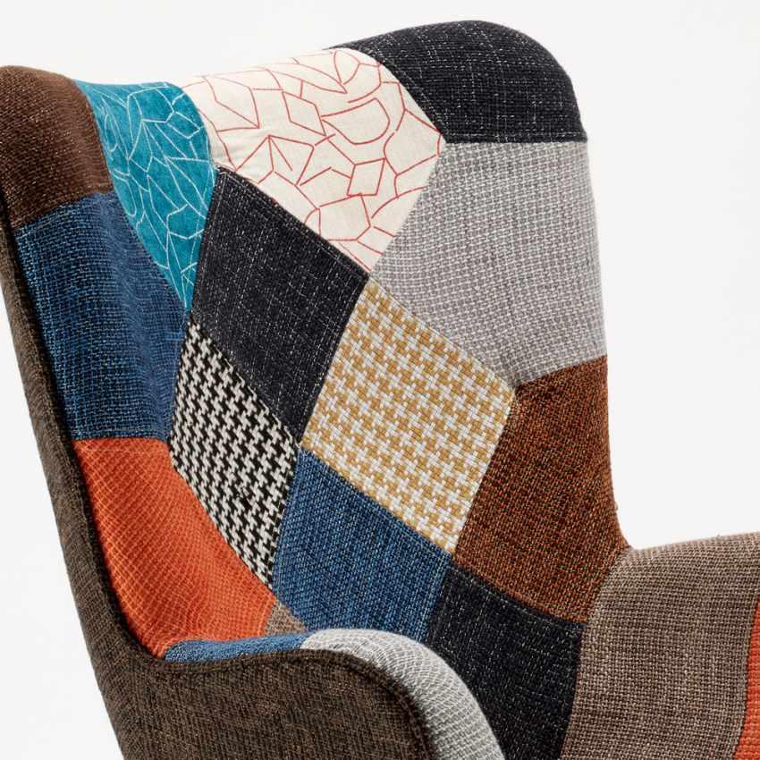 Poltrona Sedia Design Braccioli Patchwork Bar Ufficio Salotto PATCHY - price
