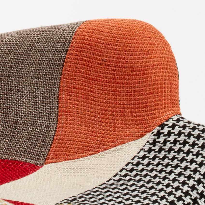Poltrona Sedia Design Braccioli Patchwork Bar Ufficio Salotto PATCHY - offert