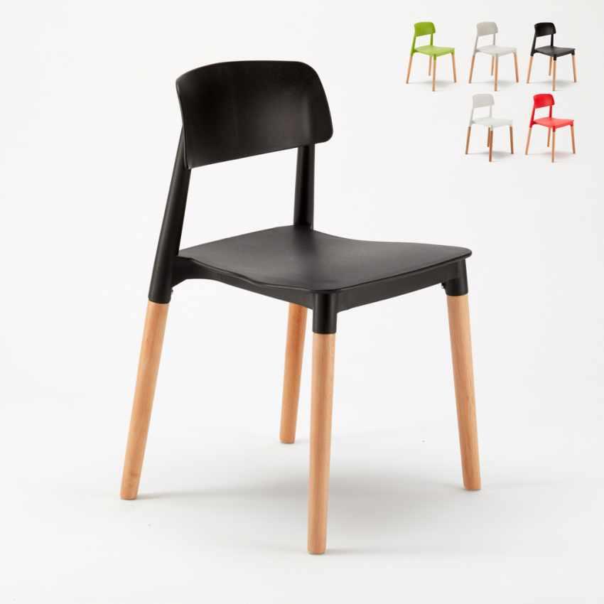 sedie per cucina e bar polipropilene e legno design