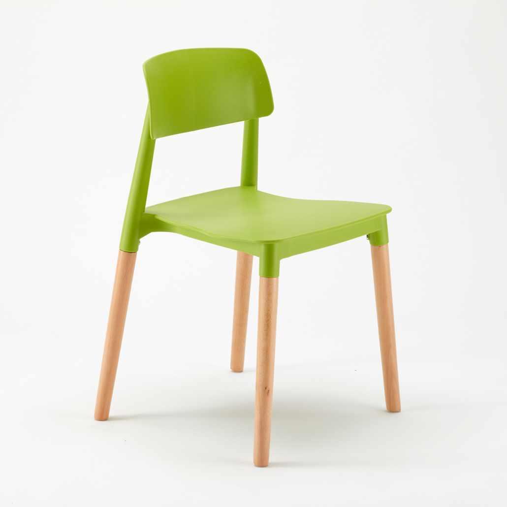 Dettagli su Sedie per Cucina e Bar Polipropilene e Legno Design Belloch  Barcellona