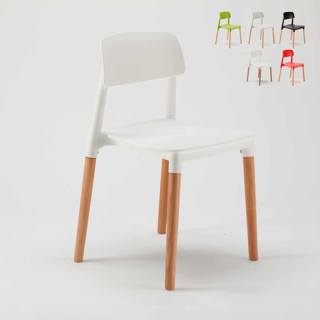 Sedie Per Cucina E Bar Polipropilene E Legno Design Moderno Barcellona