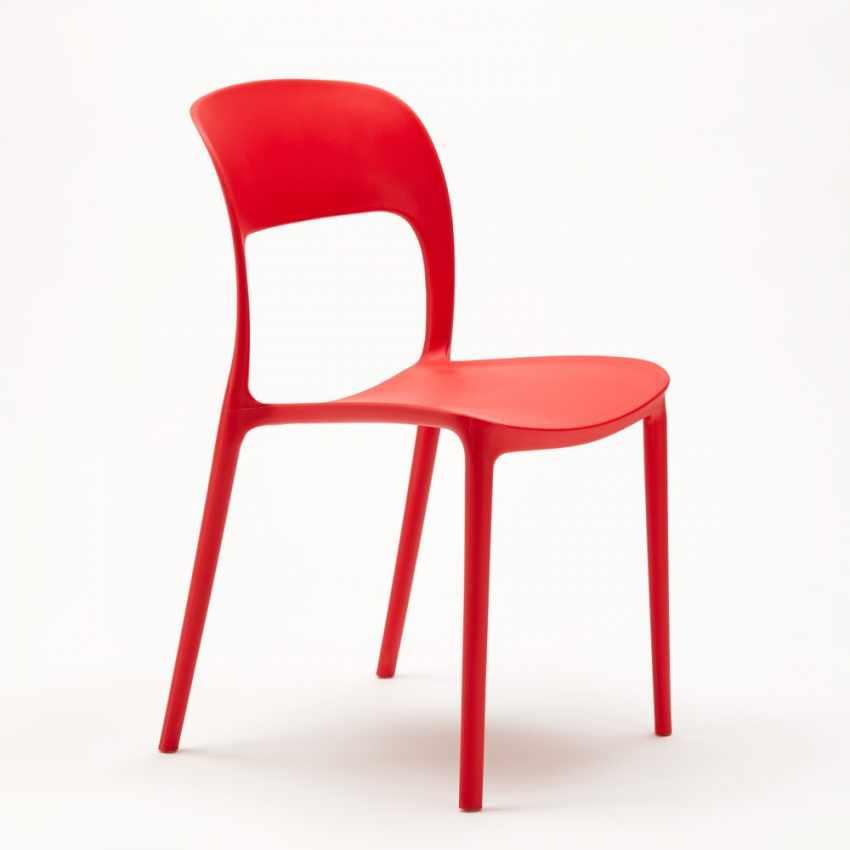 chaise en polypropyl ne color salle manger maison bar. Black Bedroom Furniture Sets. Home Design Ideas