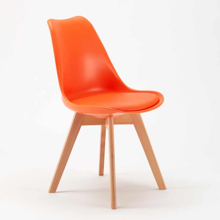 Sedie con Cuscino Design Scandinavo NORDICA per Bar e Cucina - immagine