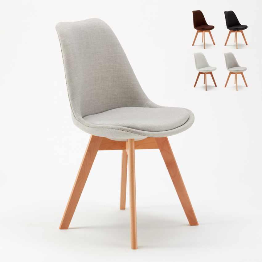 Sedie Stile Scandinavo.Sedie Con Cuscino Tessuto Design Scandinavo Tulip Nordica Plus Per Cucina E Bar