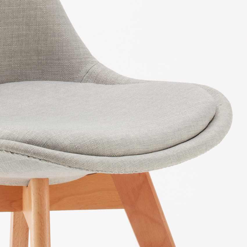 Tulip nordica plus sedie con cuscino tessuto design scandinavo for Sedie design tessuto
