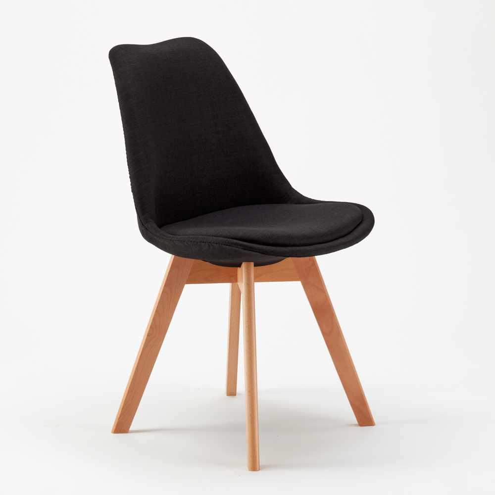Sedie moderne con cuscino tessuto design scandinavo for Sedie tessuto design