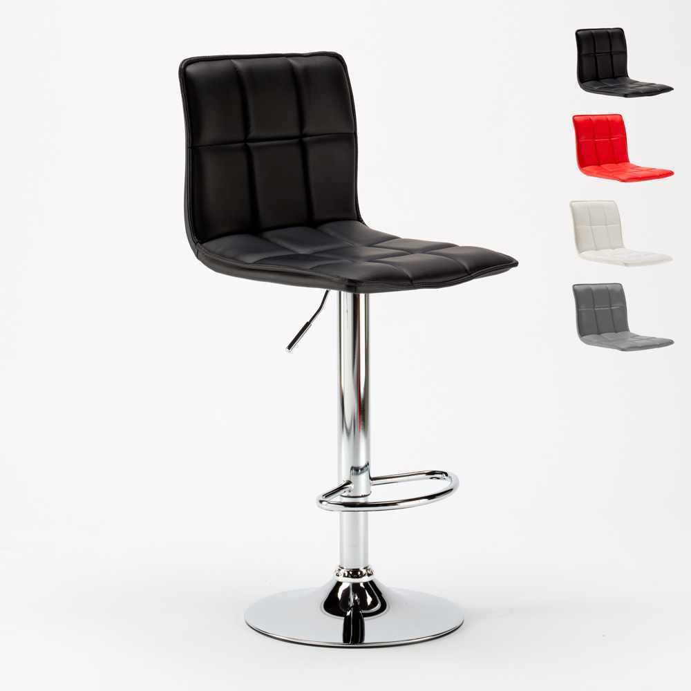 Dettagli su Sgabello moderno in similpelle per cucina e bar design PHOENIX