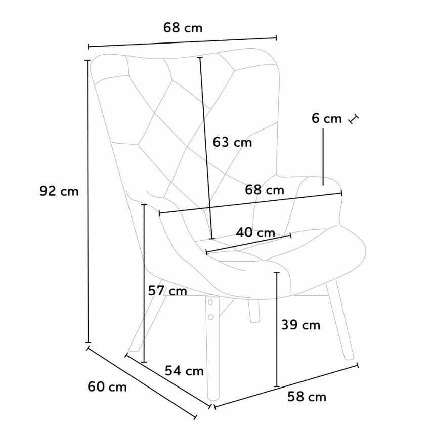 Sofa Chair Patchwork Scandinavian Padded Living Offices PATCHY - offert