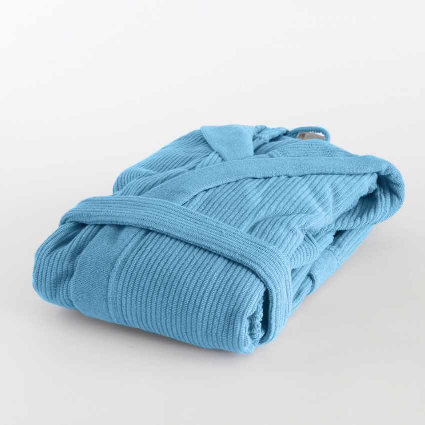 Ribbed Jacquard Svad Dondi bathrobe with Hood Pockets Unisex - promo