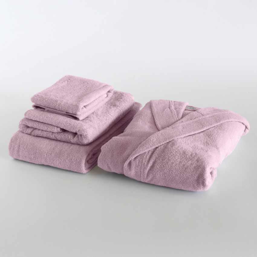 Svad Dondi TI AMO 3 towels set with bathrobe - immagine