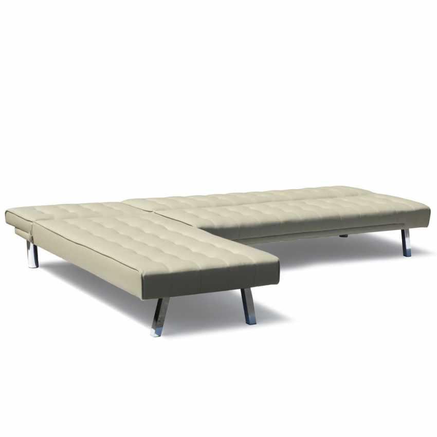 Divano letto ad angolo con penisola 3 posti in similpelle  ZIRCONE pronto letto - discount