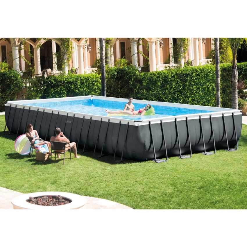 piscine hors sol intex 26378 ex 26376 rectangulaire ultra. Black Bedroom Furniture Sets. Home Design Ideas