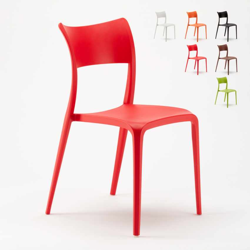 Sedie Bar Stock.Stock 20 Stackable Chairs Made Of Polypropylene For Restaurant And Bar Parisienne