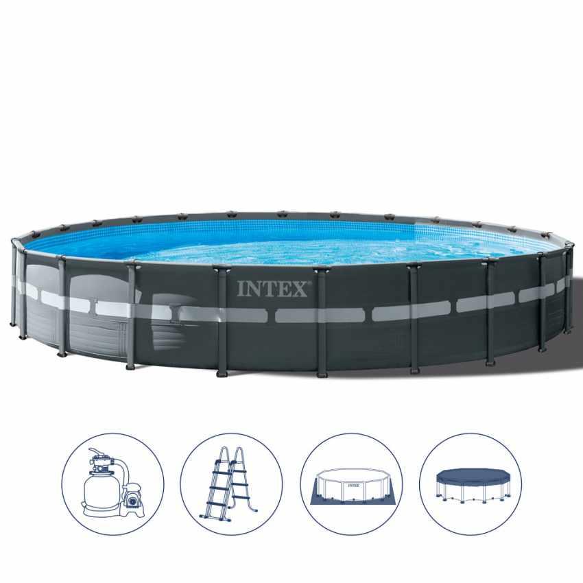 piscine intex 26340 ultras xtr frame hors sol ronde 732x132. Black Bedroom Furniture Sets. Home Design Ideas