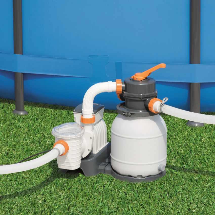 Bestway 58495 Flowclear Pompa filtro sabbia da 3785lt/h per piscina - dettaglio