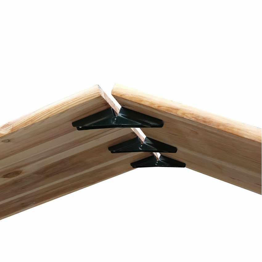 Table de brasserie pliante bancs bois ensemble 220x80 - image