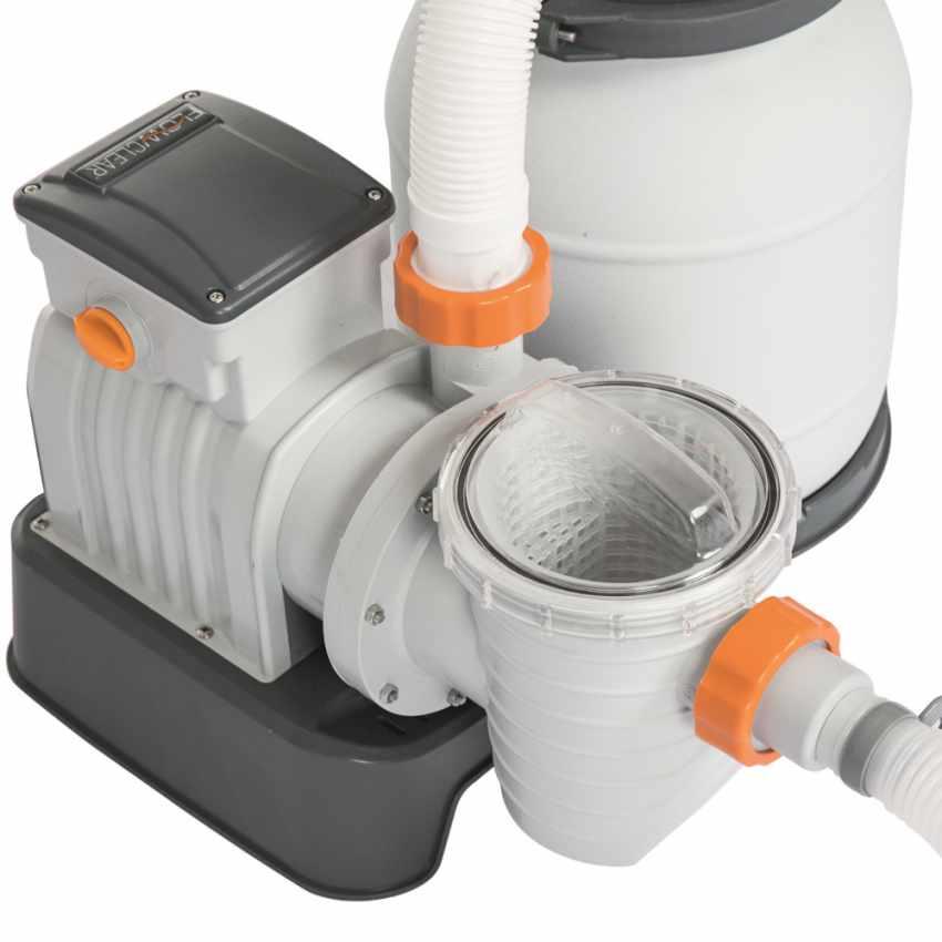 Bestway 58495 Flowclear Pompa filtro sabbia da 3785lt/h per piscina - arredamento