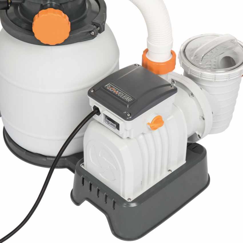 bestway 58495 flowclear pompe filtre sable de 3785 l h pour piscine hors sol. Black Bedroom Furniture Sets. Home Design Ideas