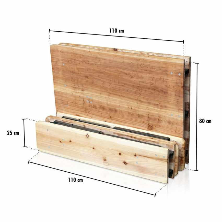 Table de brasserie pliante bancs bois ensemble 220x80 - new