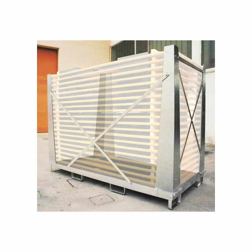 Contenitore per tavoli e panche set birreria acciaio gabbia protezione 20 set 220x80 CAGEBOX - offert
