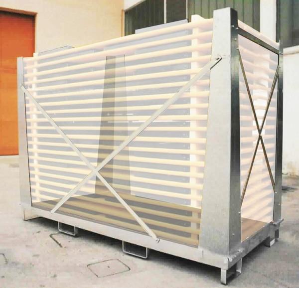 Contenitore per tavoli e panche set birreria acciaio gabbia protezione 20 set 220x80 Cagebox