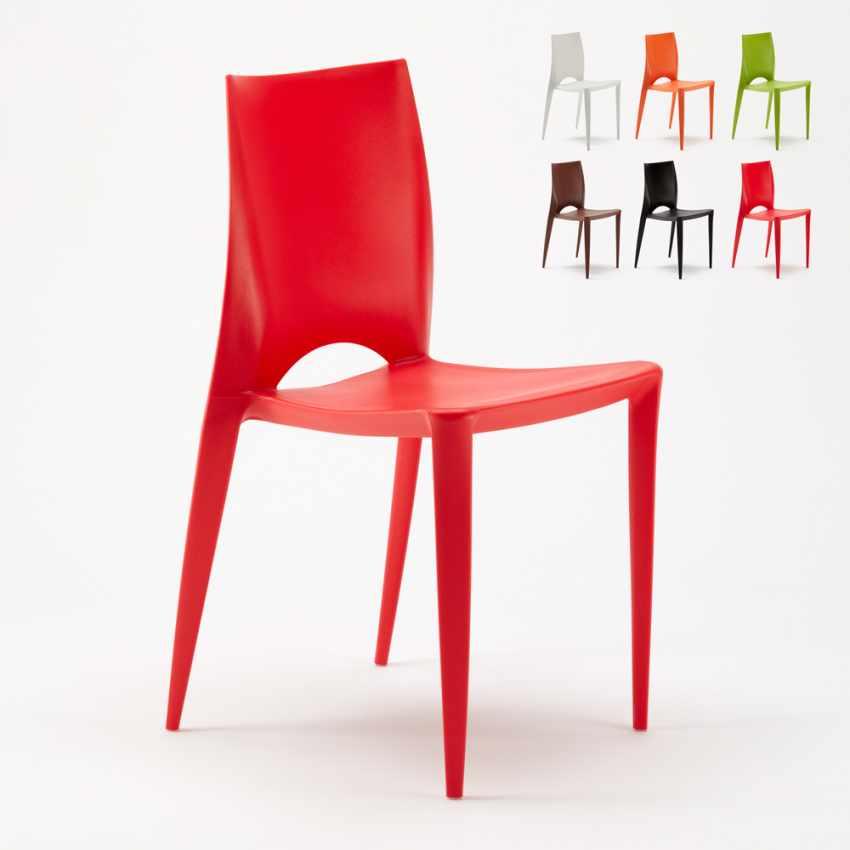 Stock 20 pezzi sedie colorate design moderno hotel bar for Sedie design moderno