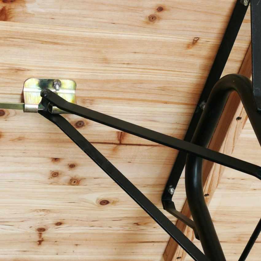 Table de brasserie bancs en bois 3 jambes pliant ensemble 220x80 10 pcs - image