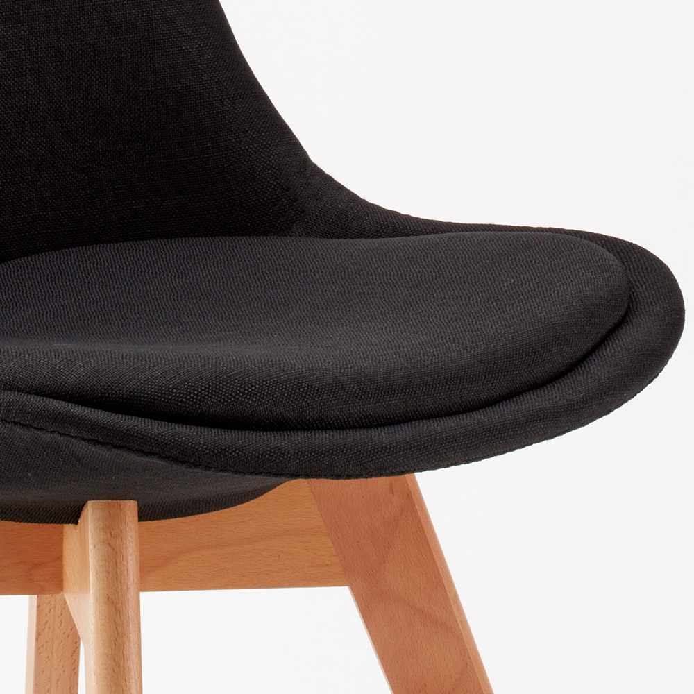 Stock 20 sedie con cuscino tessuto design scandinavo tulip for Sedie design tessuto