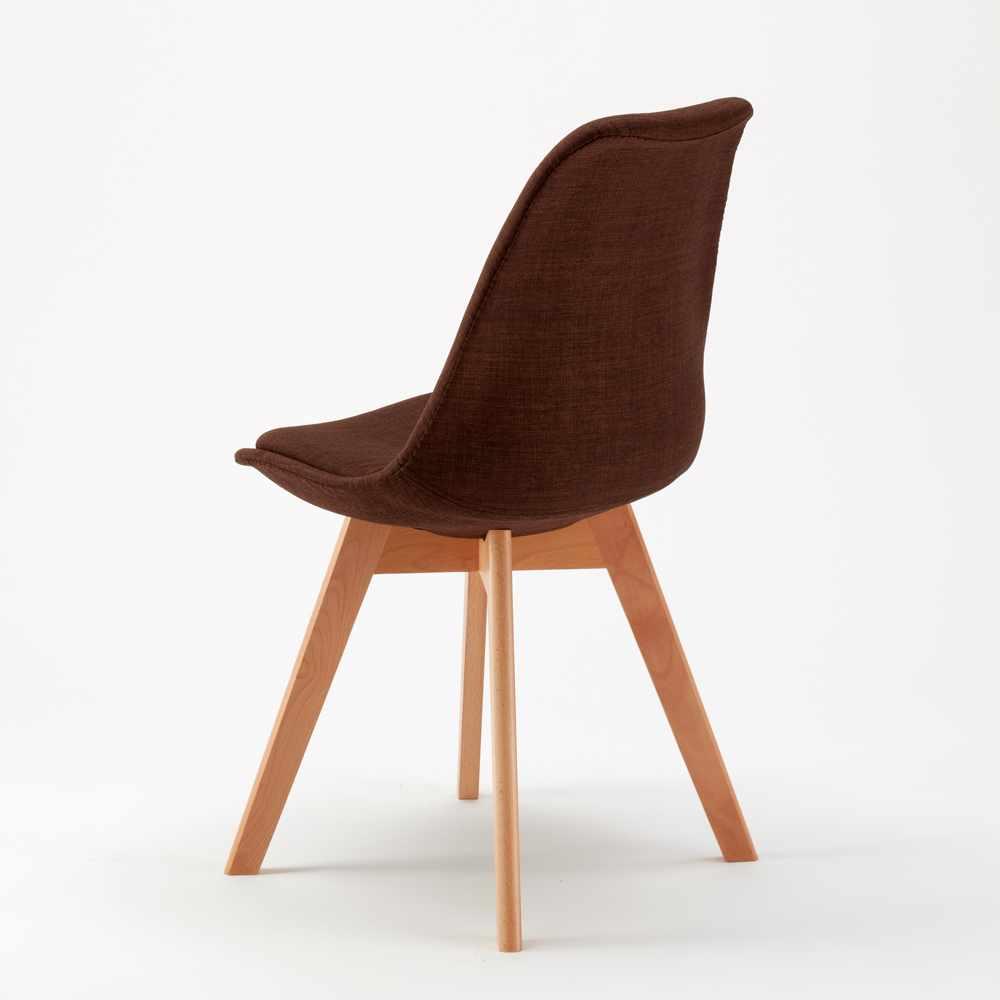 Stock 20 sedie con cuscino tessuto design scandinavo tulip for Sedie tessuto design