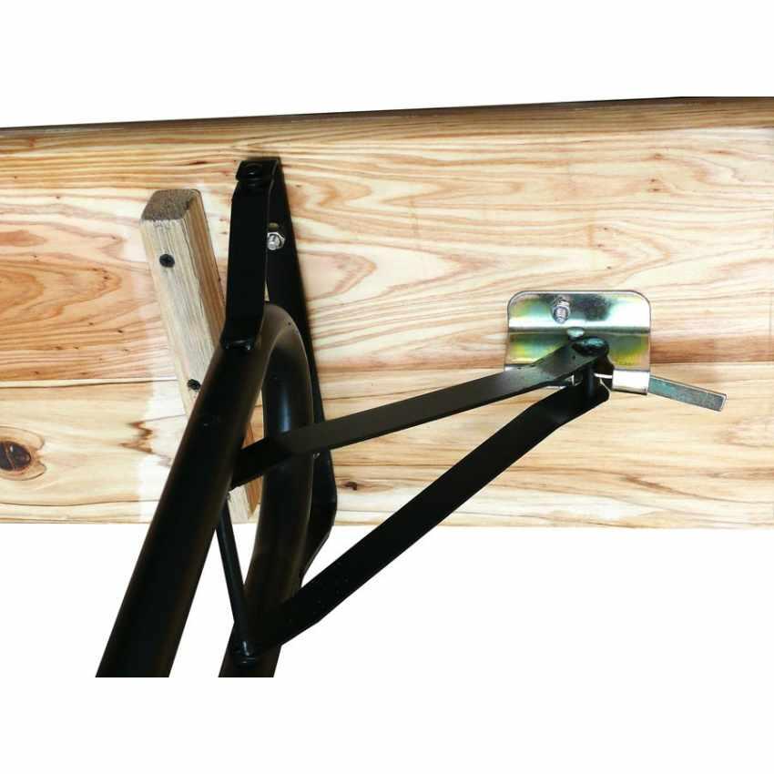Table de brasserie bancs en bois 3 jambes pliant festival jardin 220x80 - immagine