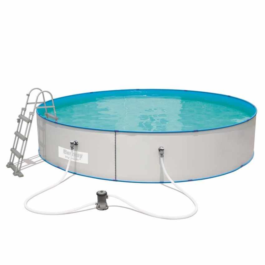 Piscine bestway hydrium 56386 hors sol ronde 460x90 cm for Best way piscine