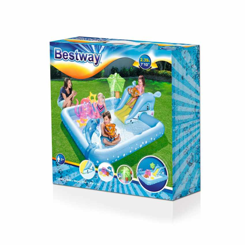 Piscine Gonflable pour Enfants Bestway 53052 Aquarium Jeu d'eau - photo