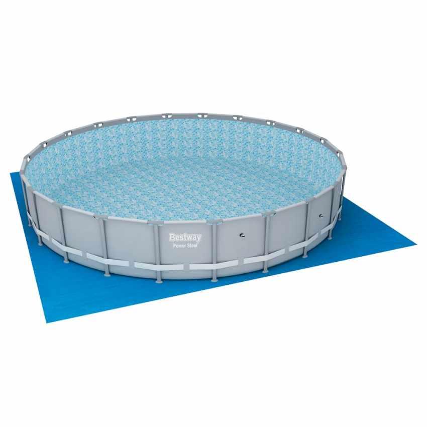 Piscina Rotonda Fuori terra Bestway 56705 da Giardino Power Steel Deluxe 671x132 cm - forniture