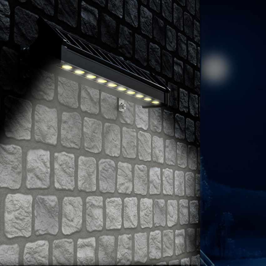 LED Solarlampe Solarleuchte für Beleuchtung von Werbetafeln und Plakate BILLBOARD - discount