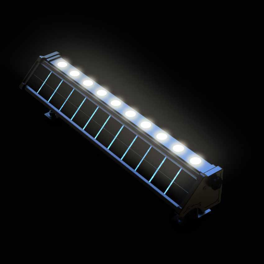 Lampada Solare a luci Led illuminazione per cartelloni pubblicitari e parete BILLBOARD - details