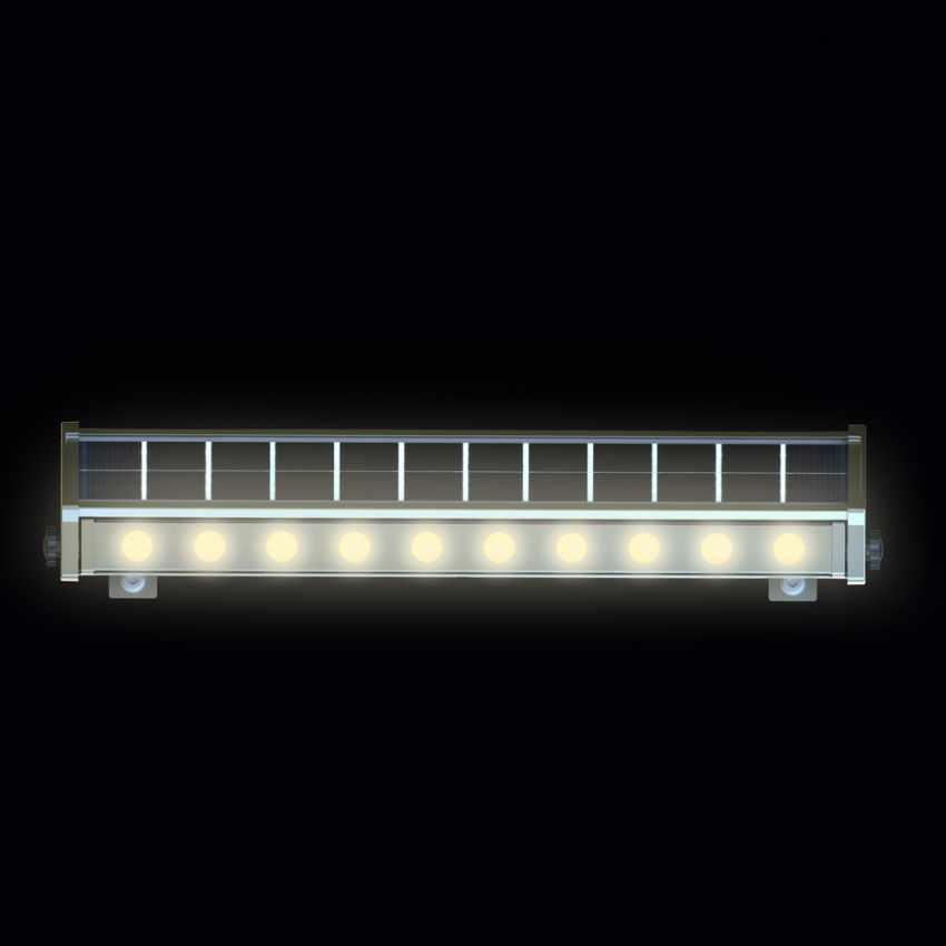 LED Solarlampe Solarleuchte für Beleuchtung von Werbetafeln und Plakate BILLBOARD - promo