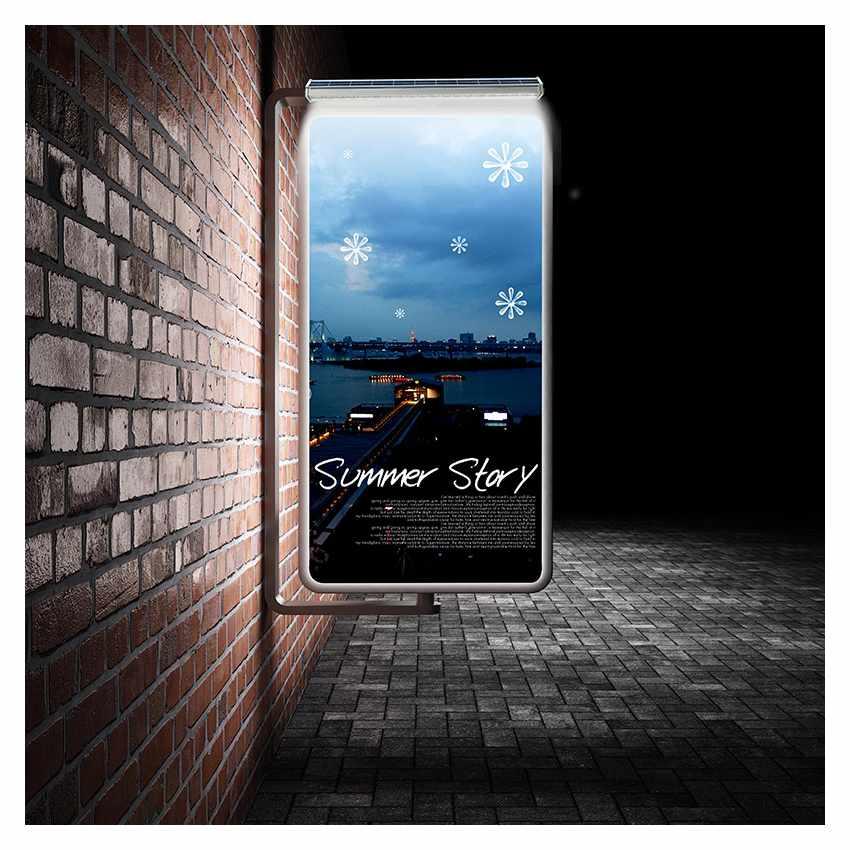 Lampe Solaire à Mur pour Illuminer Affiches Publicitaires et Murs BILLBOARD MAXI - dettaglio