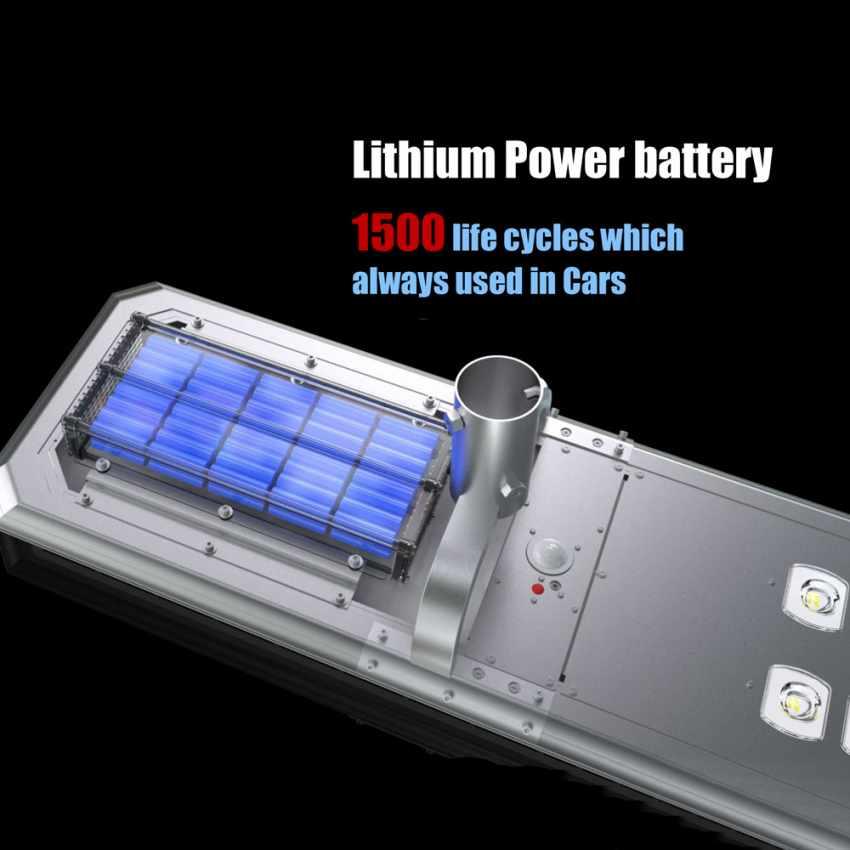 Lampione LED a Energia Solare 5000 Lumen Pannello Fotovoltaico Integrato per Giardino Parcheggio Strada GOLDRAKE - photo