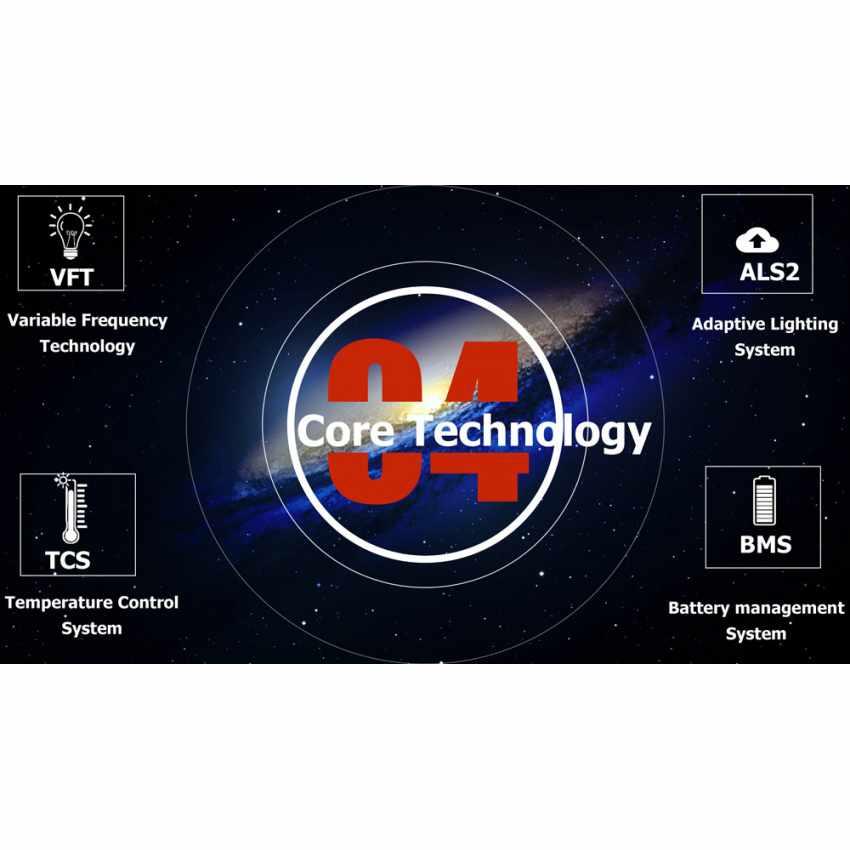 Lampione LED a Energia Solare 2000 Lumen con Pannello Solare e Sensori per Strade Piazze Parcheggi ATLAS - outdoor