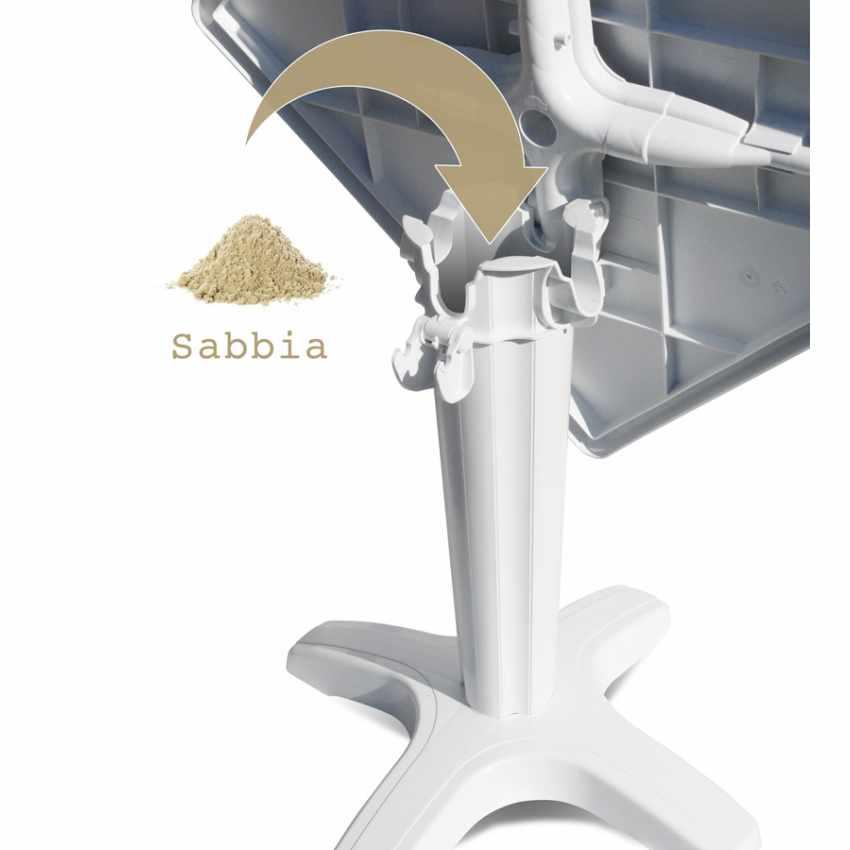 Tavolino Quadrato Bianco 70x70 cm con 2 Sedie Colorate PARIS PATIO - offert