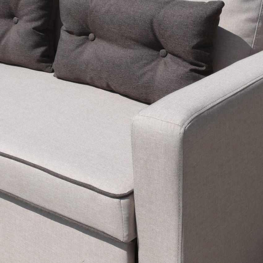 Divano letto con penisola ad angolo modulare 3 posti e cuscini SMERALDO per soggiorni e salotti pronto letto - offert