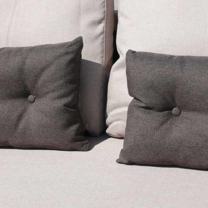Divano letto con penisola ad angolo modulare 3 posti e cuscini SMERALDO per soggiorni e salotti pronto letto - details
