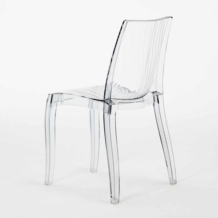 Tavolino Rotondo Bianco 70x70cm Con 2 Sedie Colorate Interno Bar DUNE SILVER - esterno