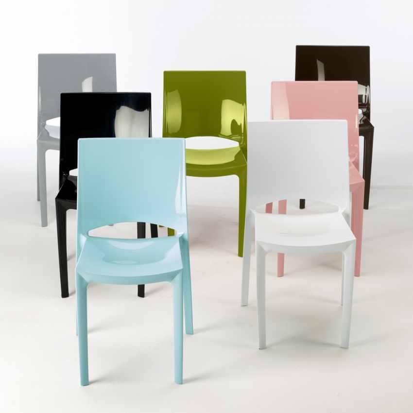 Sedie per cucina e bar grand soleil sunshine design in for Sedie blu cucina