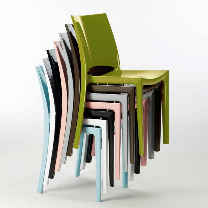 Sedie Per Cucina E Bar Lucida Grand Soleil SUNSHINE Design Moderno In Polipropilene - indoor