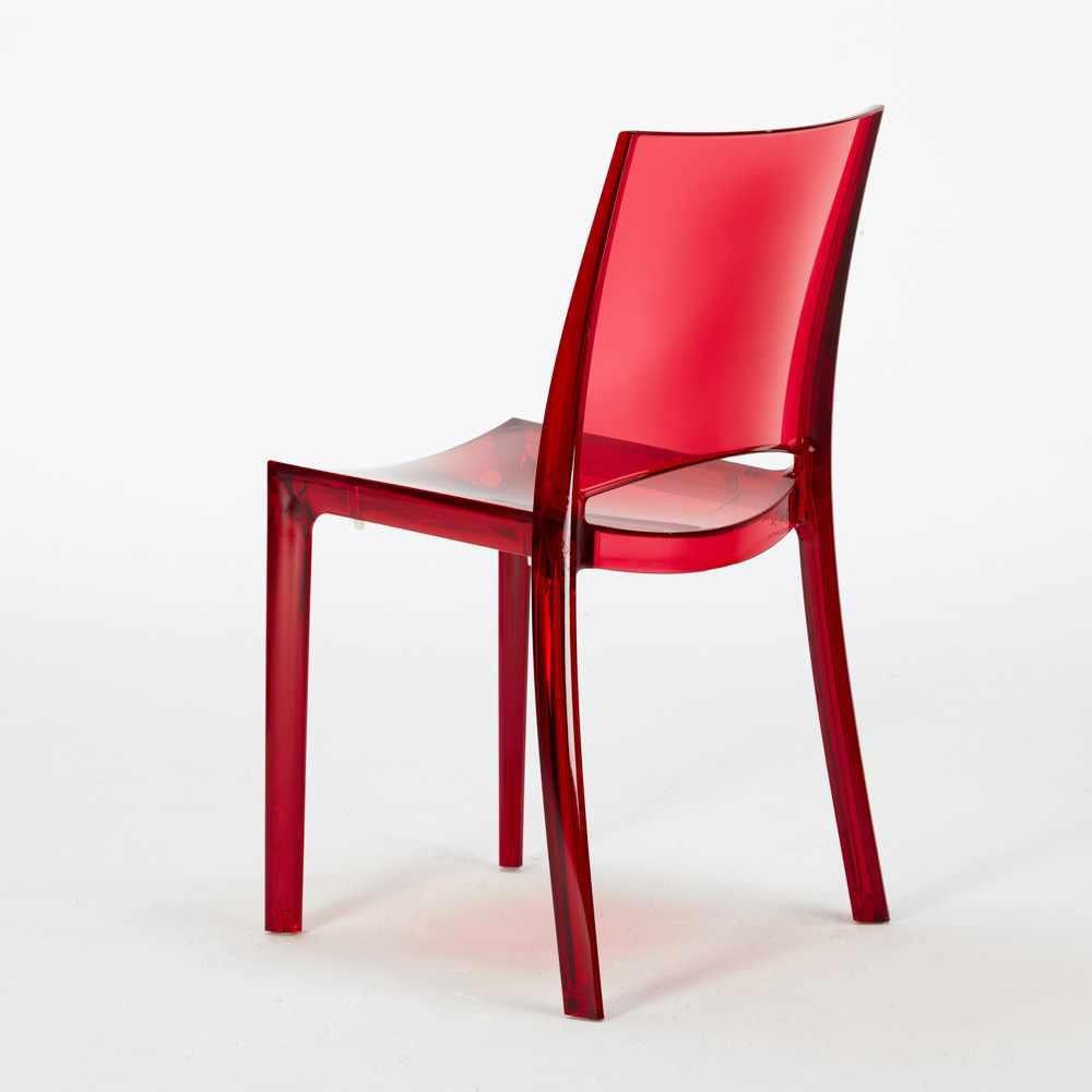 Sedie Trasparenti Colorate.Tavolo Rotondo Bianco 70 Cm 2 Sedie Trasparenti Colorate