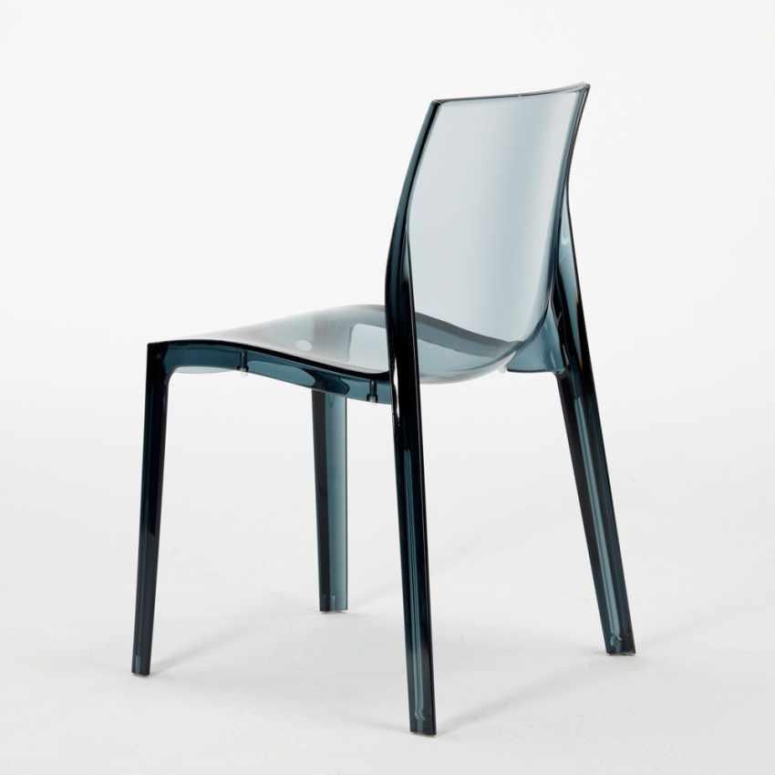 Tavolino Rotondo bianco 70x70cm Con 2 Sedie Colorate Interno Bar FEMME FATALE SPECTRE - esterno