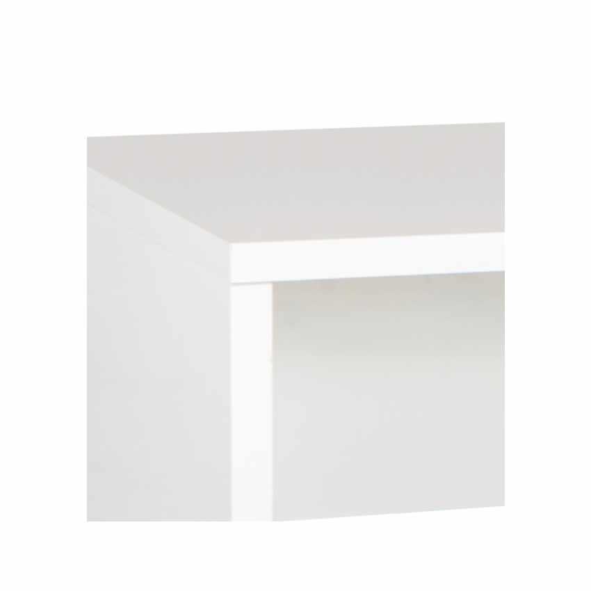 Scrivania design moderno colore bianco lucido per ufficio e studio COLIBRI - arredamento